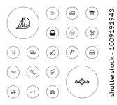 editable vector fast icons ... | Shutterstock .eps vector #1009191943