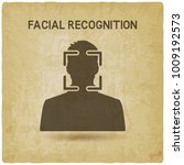 facial recognition system... | Shutterstock .eps vector #1009192573