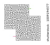 abstract maze labyrinth with...   Shutterstock .eps vector #1009194577
