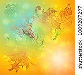 illustration of autumn doodle... | Shutterstock .eps vector #1009207297