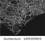 black and white vector city map ... | Shutterstock .eps vector #1009209853