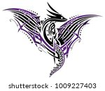 abstract fantasy dragon with...   Shutterstock .eps vector #1009227403