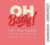 baby shower birthday girl... | Shutterstock .eps vector #1009235017