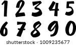 brush lettering numbers. modern ...   Shutterstock .eps vector #1009235677