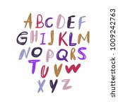 vector unique lettering font ... | Shutterstock .eps vector #1009242763