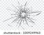 broken glass  cracks  on glass  ... | Shutterstock .eps vector #1009249963