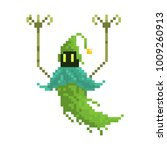 pixel character evil forest... | Shutterstock .eps vector #1009260913