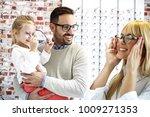 four year little girl in optics ...   Shutterstock . vector #1009271353