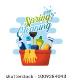 spring cleaning poster with... | Shutterstock .eps vector #1009284043