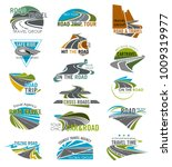 road icons set for travel or... | Shutterstock .eps vector #1009319977