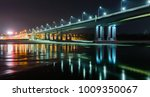 night view of illuminated... | Shutterstock . vector #1009350067