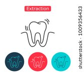 tooth extraction line icon.... | Shutterstock . vector #1009356433