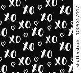 xoxo brush lettering signs...   Shutterstock .eps vector #1009357447