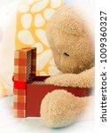 teddy bear just received a gift ... | Shutterstock . vector #1009360327