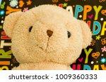 teddy bear on his birthday... | Shutterstock . vector #1009360333