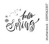 hello spring   hand drawn... | Shutterstock .eps vector #1009362307