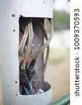 Small photo of Tangle wire in electricity post in thailand