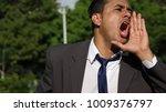 business man shouting | Shutterstock . vector #1009376797