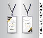 yellow   black template staff... | Shutterstock .eps vector #1009385077
