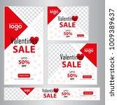 red discount big sale valentine ... | Shutterstock .eps vector #1009389637