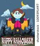vampire for happy halloween...   Shutterstock . vector #1009391497