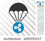 ripple parachute pictograph... | Shutterstock .eps vector #1009392217