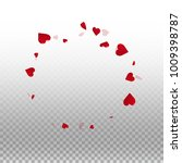 3d hearts. round scattered... | Shutterstock .eps vector #1009398787