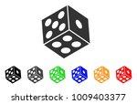 dice icon. vector illustration... | Shutterstock .eps vector #1009403377