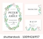 wedding invitation card | Shutterstock .eps vector #1009426957