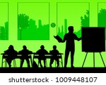young sexy school teacher with... | Shutterstock .eps vector #1009448107