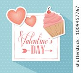 happy valentines day stylish... | Shutterstock .eps vector #1009457767