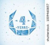 4 years anniversary design... | Shutterstock .eps vector #1009460857