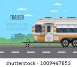 road trip poster with camping... | Shutterstock .eps vector #1009467853