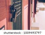korean traditional wooden door...   Shutterstock . vector #1009493797