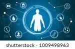 circular hud display with an... | Shutterstock . vector #1009498963