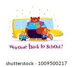 vector flat collection of happy ...   Shutterstock .eps vector #1009500217