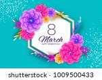 bright colorful origami flowers.... | Shutterstock .eps vector #1009500433