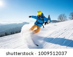 shot of a professional skier... | Shutterstock . vector #1009512037