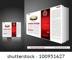 spread magazine design | Shutterstock .eps vector #100951627