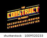 vector of modern bold font and...   Shutterstock .eps vector #1009520233