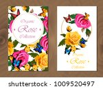 postcard with floral design.... | Shutterstock .eps vector #1009520497
