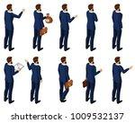 isometrics set of men in a suit ... | Shutterstock .eps vector #1009532137