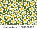 white plumeria flowers in... | Shutterstock .eps vector #1009550137
