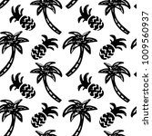 seamless pattern with palm... | Shutterstock .eps vector #1009560937