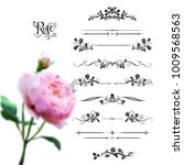 graphic silhouette of roses for ... | Shutterstock .eps vector #1009568563