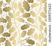 seamless oldstyle gold color... | Shutterstock .eps vector #1009571623