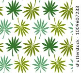 seamless pattern with leaves.... | Shutterstock .eps vector #1009607233