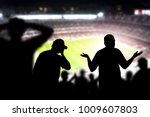 sad football fans. disappointed ... | Shutterstock . vector #1009607803