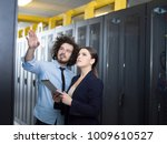 young it engineer showing... | Shutterstock . vector #1009610527