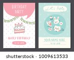 birthday card templates | Shutterstock . vector #1009613533